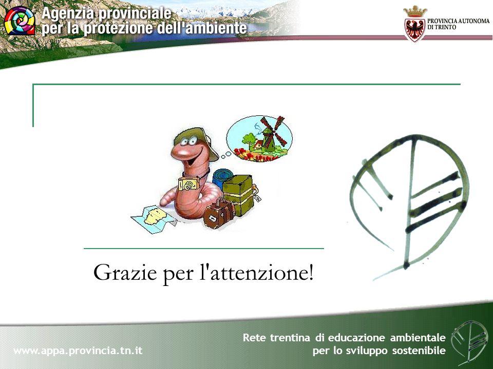 Rete trentina di educazione ambientale per lo sviluppo sostenibile www.appa.provincia.tn.it Grazie per l'attenzione!