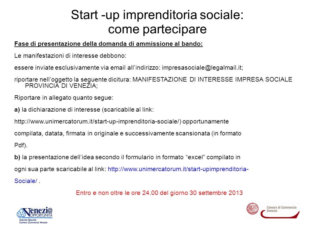 Start -up imprenditoria sociale Può darsi l industria dei fini.