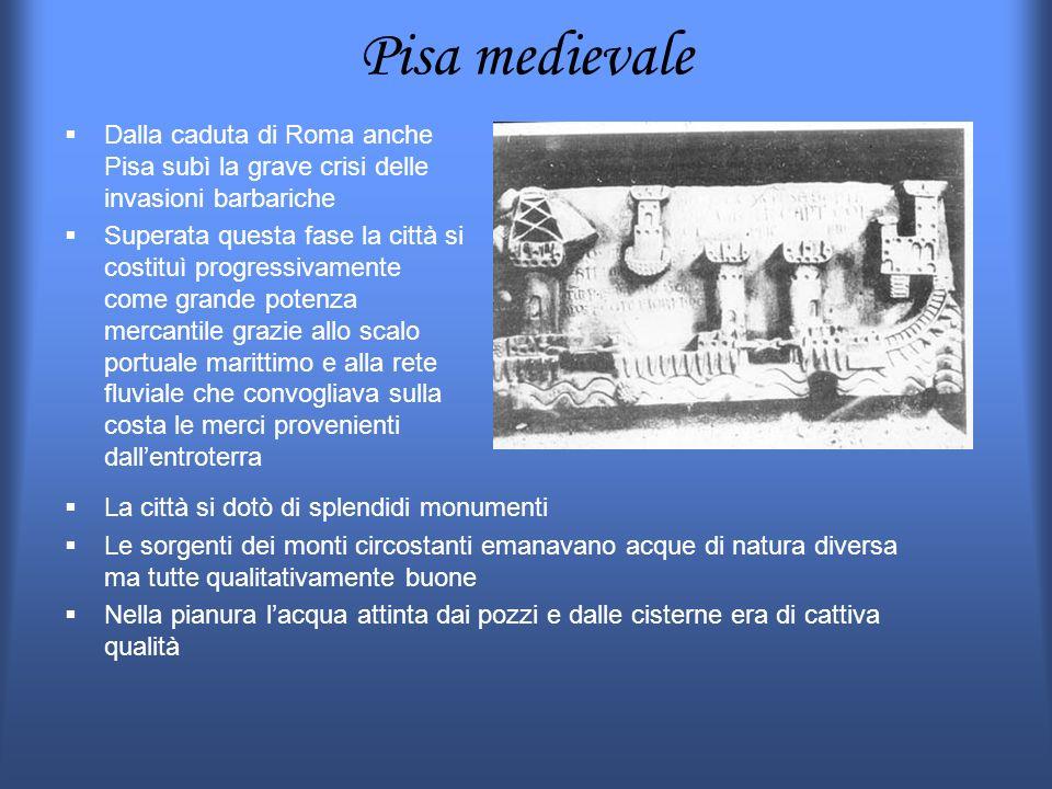 Pisa medievale Dalla caduta di Roma anche Pisa subì la grave crisi delle invasioni barbariche Superata questa fase la città si costituì progressivamen