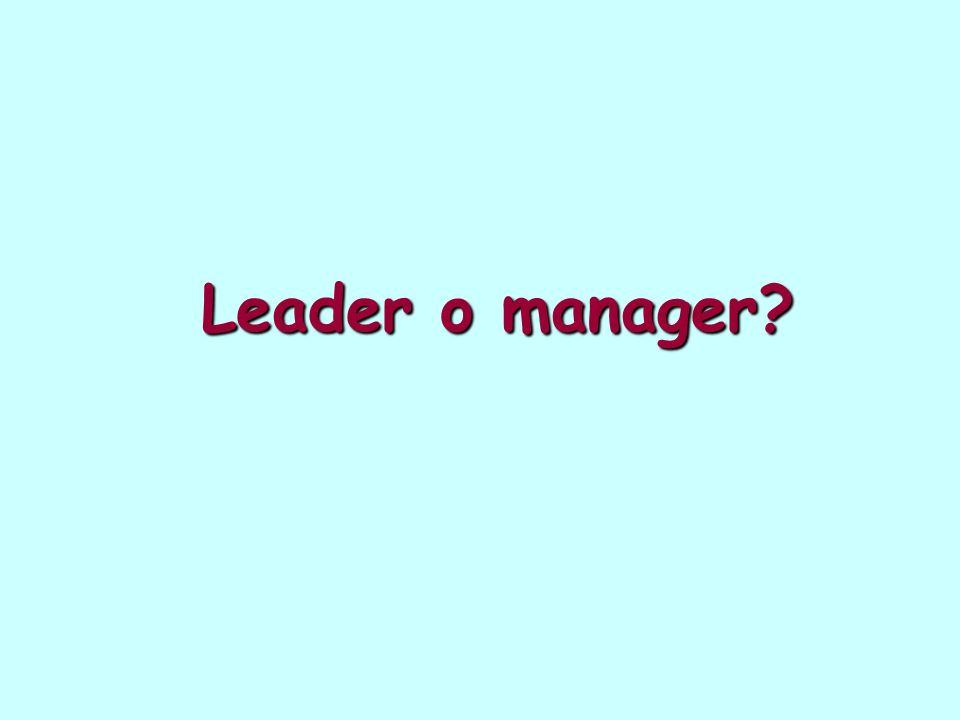 Leader o manager