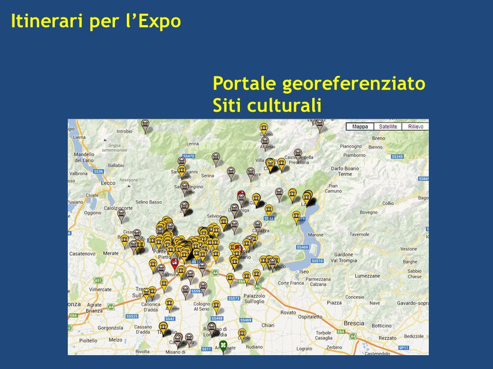 Itinerari per lExpo Portale georeferenziato Siti culturali