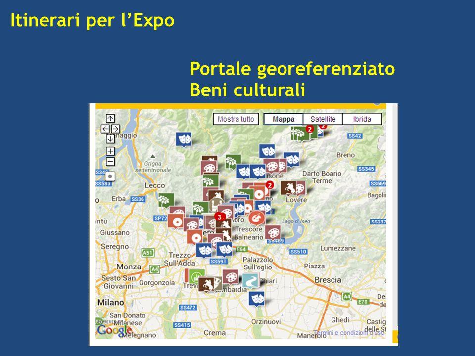 Itinerari per lExpo Portale georeferenziato Beni culturali