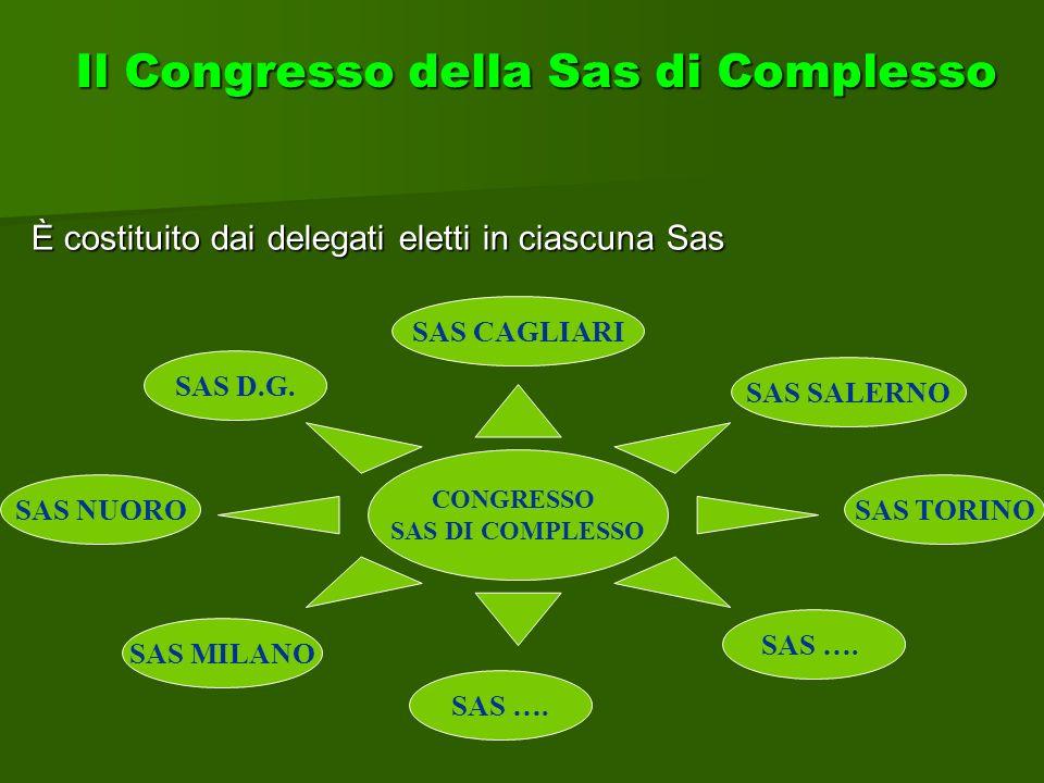 È costituito dai delegati eletti in ciascuna Sas Il Congresso della Sas di Complesso CONGRESSO SAS DI COMPLESSO SAS MILANO SAS NUORO SAS …. SAS TORINO