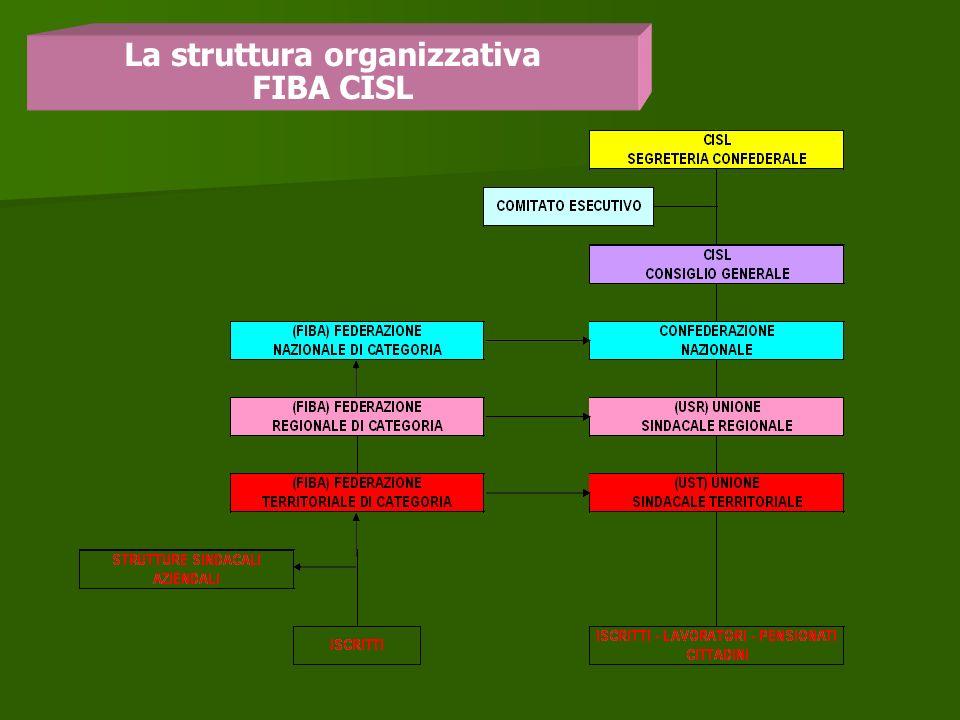La struttura organizzativa FIBA CISL