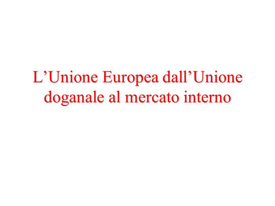 LUnione Europea dallUnione doganale al mercato interno