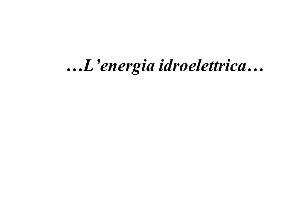 …Lenergia idroelettrica…