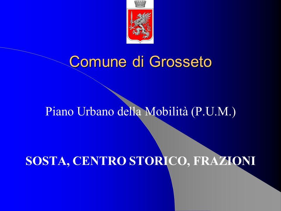 Comune di Grosseto Piano Urbano della Mobilità (P.U.M.) SOSTA, CENTRO STORICO, FRAZIONI