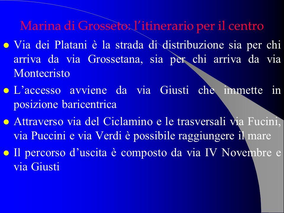 l Via dei Platani è la strada di distribuzione sia per chi arriva da via Grossetana, sia per chi arriva da via Montecristo l Laccesso avviene da via G