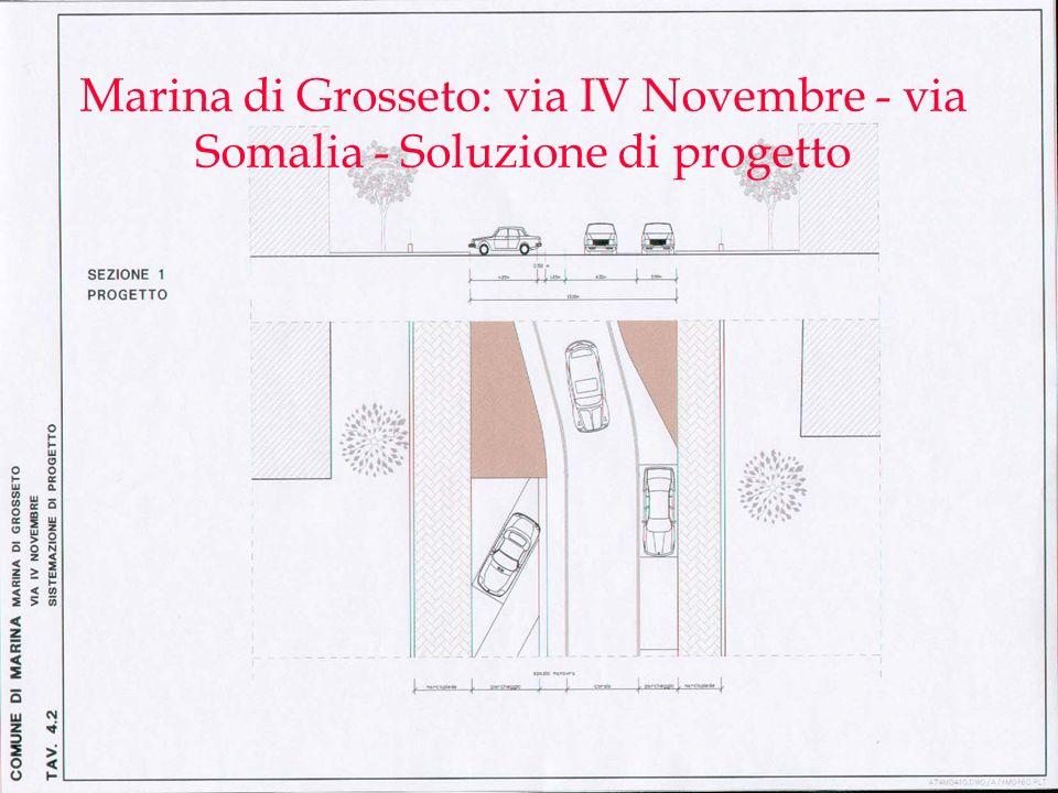 Marina di Grosseto: via IV Novembre - via Somalia - Soluzione di progetto