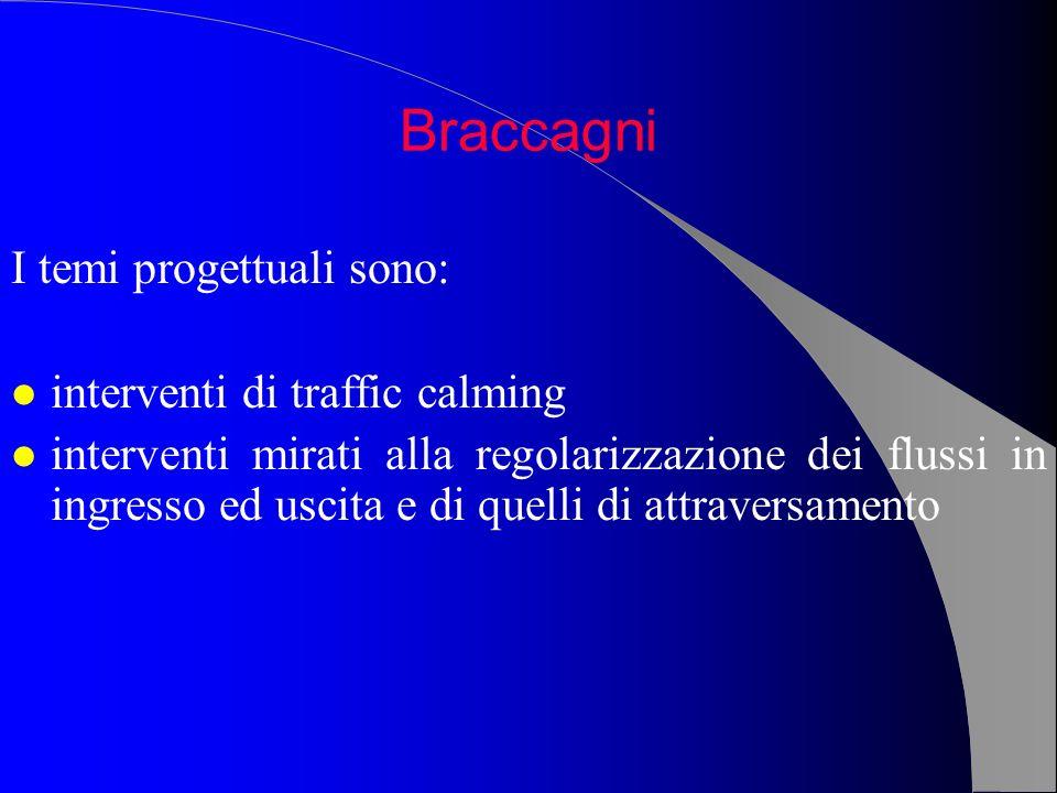 I temi progettuali sono: l interventi di traffic calming l interventi mirati alla regolarizzazione dei flussi in ingresso ed uscita e di quelli di att