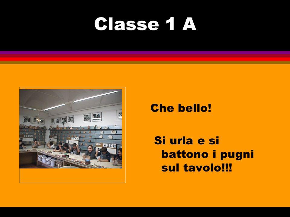 Classe 1 A Che bello! Si urla e si battono i pugni sul tavolo!!!