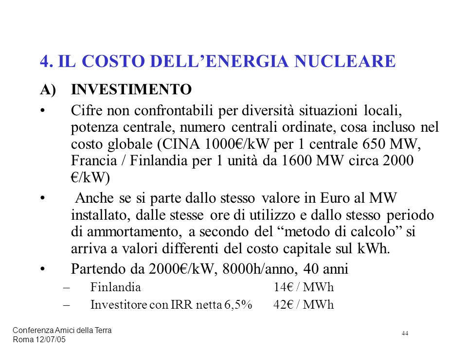 44 Conferenza Amici della Terra Roma 12/07/05 4.