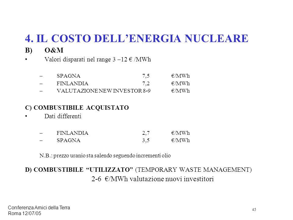 45 Conferenza Amici della Terra Roma 12/07/05 4.