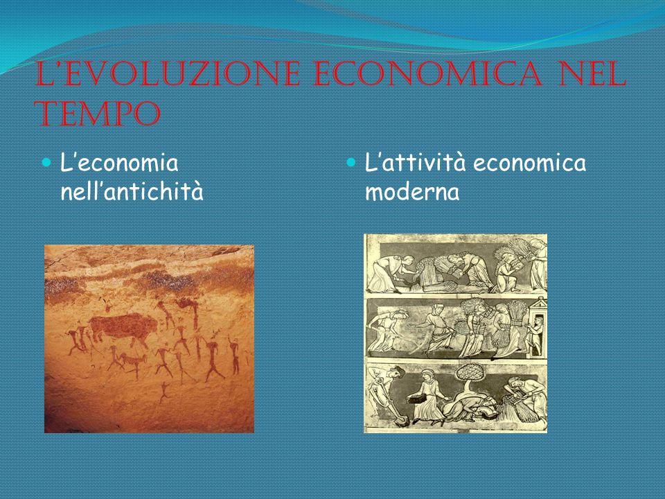 Levoluzione economica nel tempo Leconomia nellantichità Lattività economica moderna