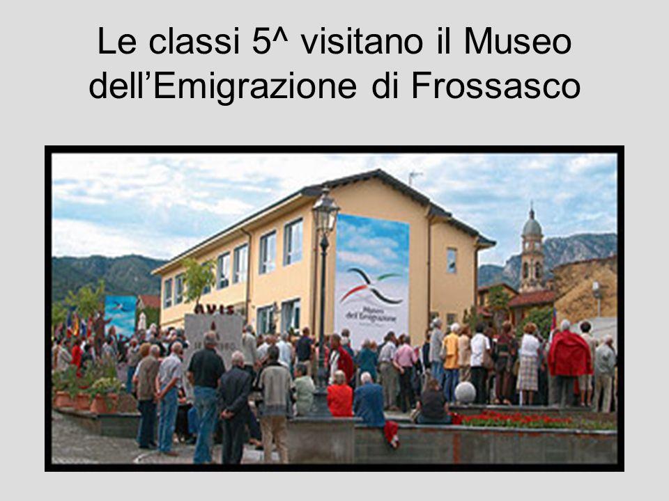 Le classi 5^ visitano il Museo dellEmigrazione di Frossasco