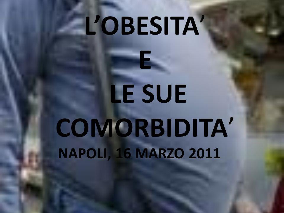 LOBESITA E LE SUE COMORBIDITA NAPOLI, 16 MARZO 2011
