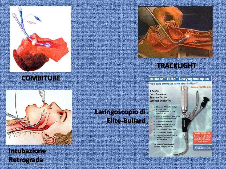 COMBITUBE TRACKLIGHT Intubazione Retrograda Laringoscopio di Elite-Bullard