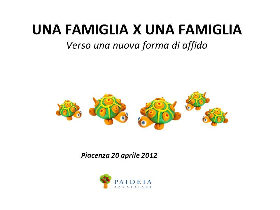 UNA FAMIGLIA X UNA FAMIGLIA Verso una nuova forma di affido Piacenza 20 aprile 2012