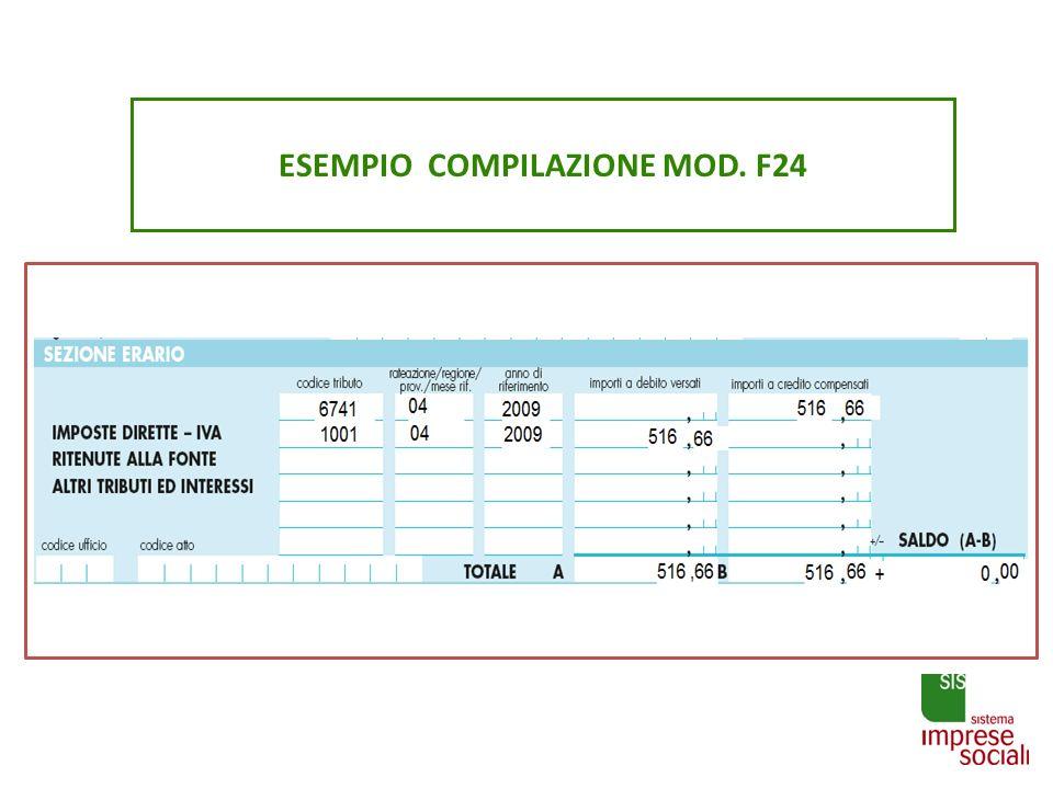 ESEMPIO COMPILAZIONE MOD. F24