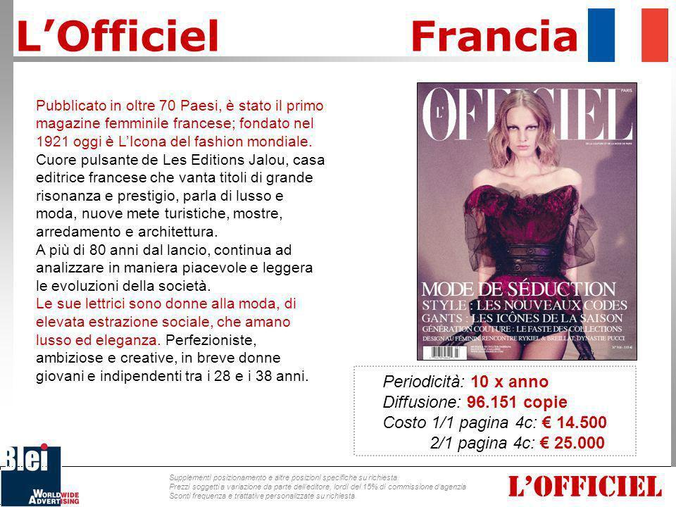 Pubblicato in oltre 70 Paesi, è stato il primo magazine femminile francese; fondato nel 1921 oggi è LIcona del fashion mondiale. Cuore pulsante de Les