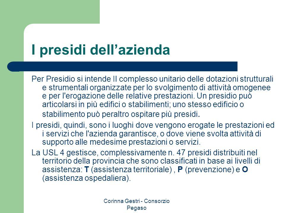 Corinna Gestri - Consorzio Pegaso I presidi dellazienda Per Presidio si intende Il complesso unitario delle dotazioni strutturali e strumentali organi