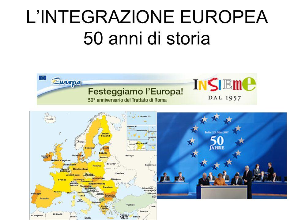 LINTEGRAZIONE EUROPEA 50 anni di storia