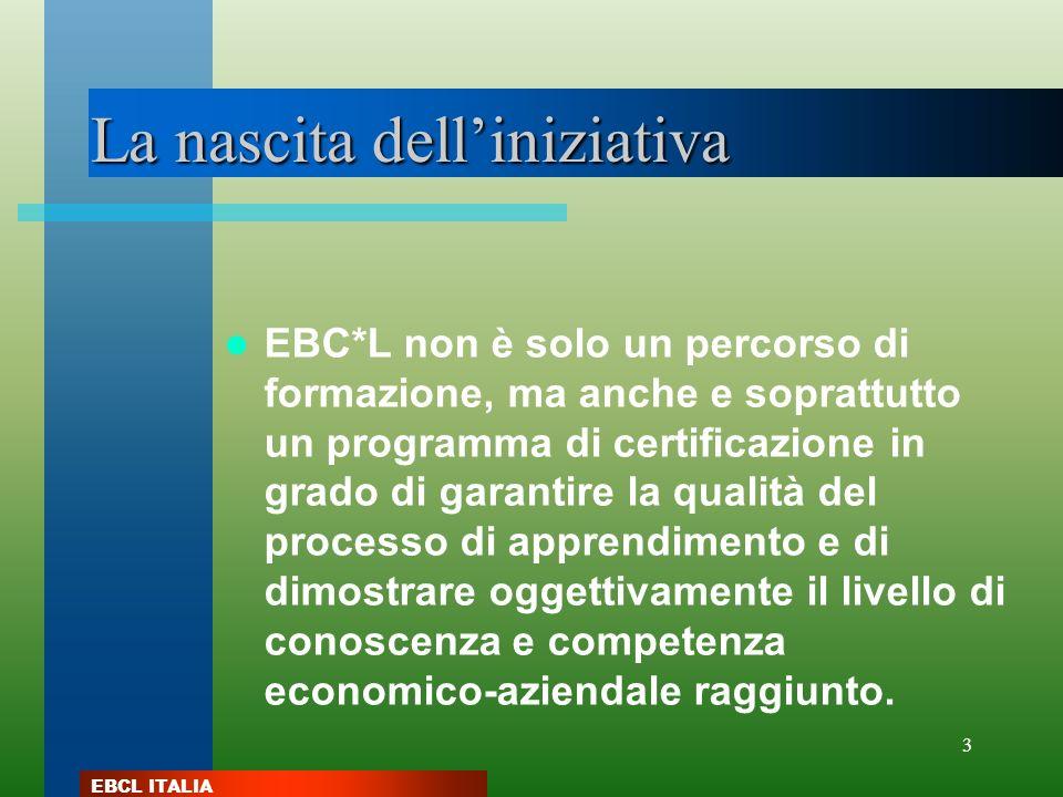 EBCL ITALIA 3 La nascita delliniziativa EBC*L non è solo un percorso di formazione, ma anche e soprattutto un programma di certificazione in grado di