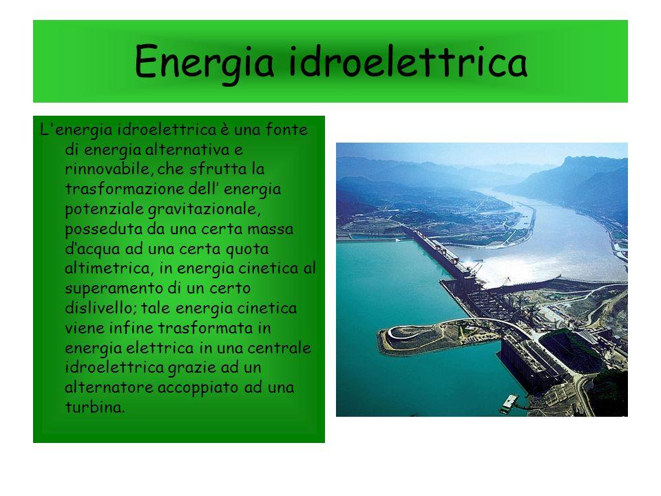 Energia eolica L'energia eolica è l energia ottenuta dal vento ovvero il prodotto della conversione dell energia cinetica, ottenuta dalle correnti d'a
