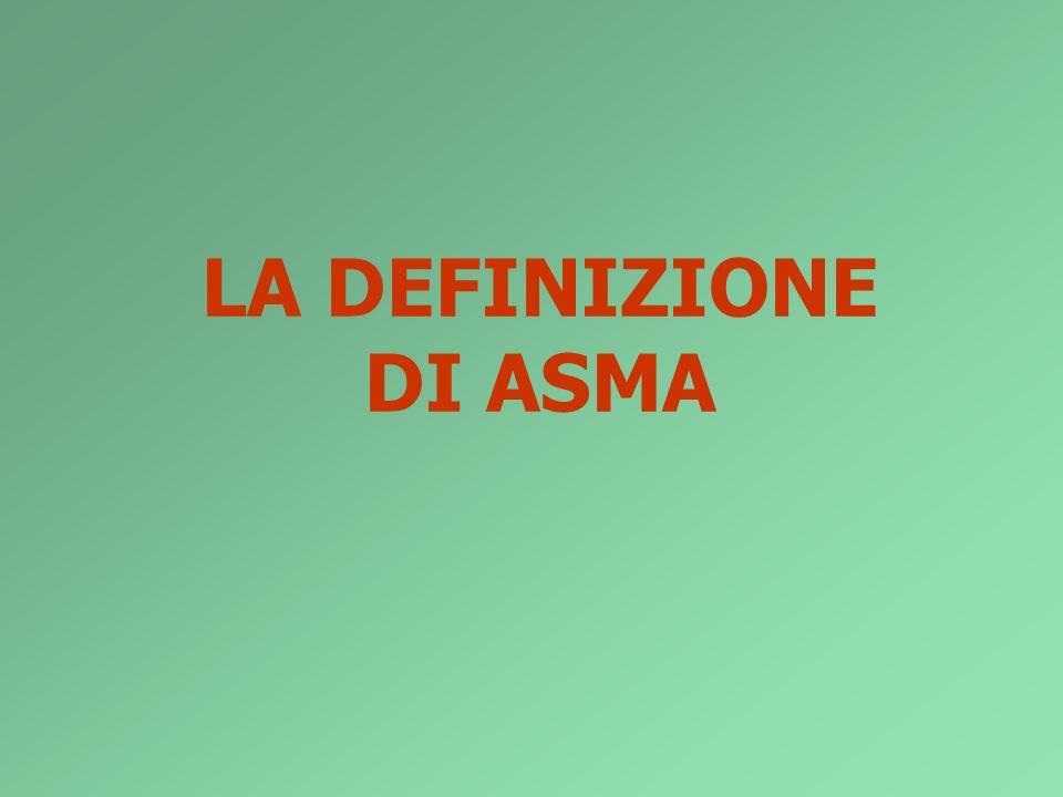 LA DEFINIZIONE DI ASMA