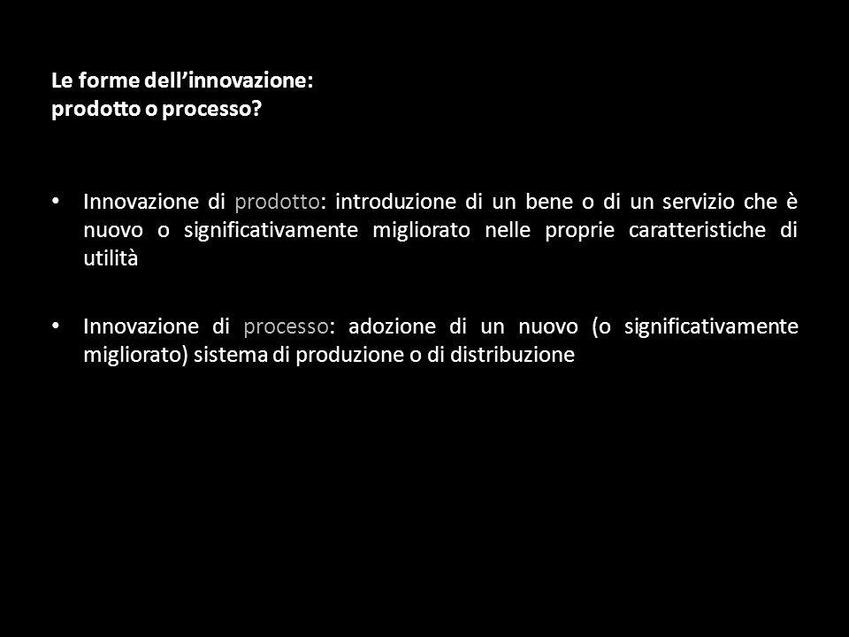Innovazione di prodotto: introduzione di un bene o di un servizio che è nuovo o significativamente migliorato nelle proprie caratteristiche di utilità