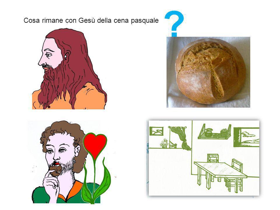 Cosa rimane con Gesù della cena pasquale ?