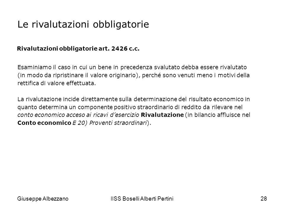 Giuseppe AlbezzanoIISS Boselli Alberti Pertini29 Unimpresa industriale possiede un terreno edificabile acquistato alcuni anni fa a 250.000.