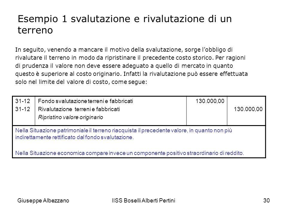 Giuseppe AlbezzanoIISS Boselli Alberti Pertini31 Come si è detto, le rivalutazioni facoltative (di carattere monetario) si fondano su appositi provvedimenti legislativi che, periodicamente, possono intervenire a disciplinare le oscillazioni nel potere di acquisto della moneta di conto.