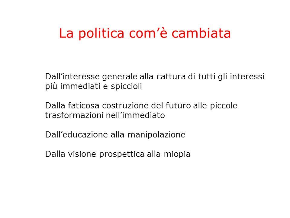 Politica, società, istituzioni Società Politica Istituzioni Pianificazione