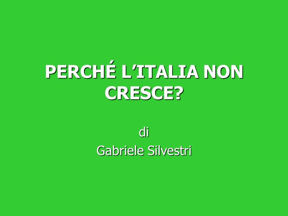 PERCHÉ LITALIA NON CRESCE? di Gabriele Silvestri