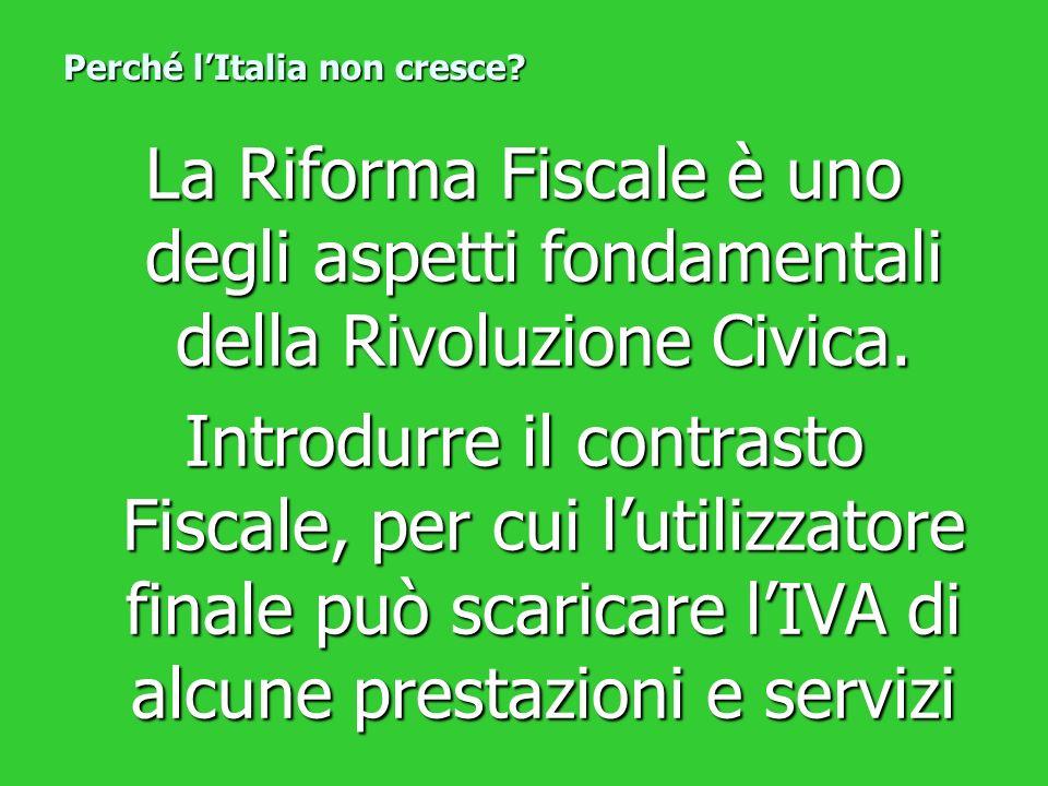 La Riforma Fiscale è uno degli aspetti fondamentali della Rivoluzione Civica. Introdurre il contrasto Fiscale, per cui lutilizzatore finale può scaric