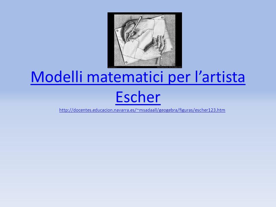 Modelli matematici per lartista Escher http://docentes.educacion.navarra.es/~msadaall/geogebra/figuras/escher123.htm