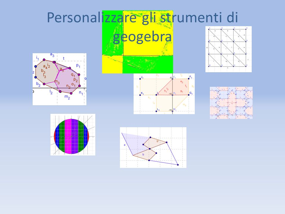 Personalizzare gli strumenti di geogebra