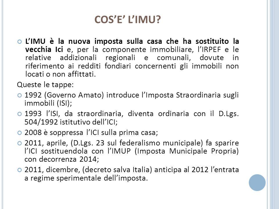 D ICHIARAZIONE IMU Per le case acquistate nel corso del 2012, è anche necessario presentare la dichiarazione Imu, entro il 30 settembre.