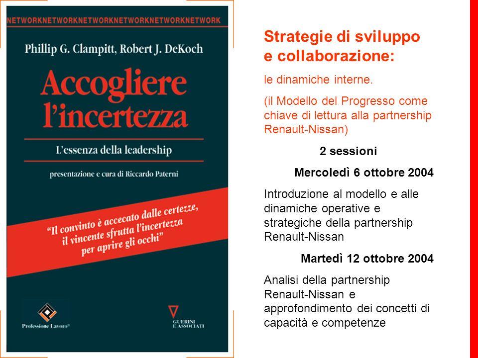 Strategie di sviluppo e collaborazione: le dinamiche interne. (il Modello del Progresso come chiave di lettura alla partnership Renault-Nissan) 2 sess