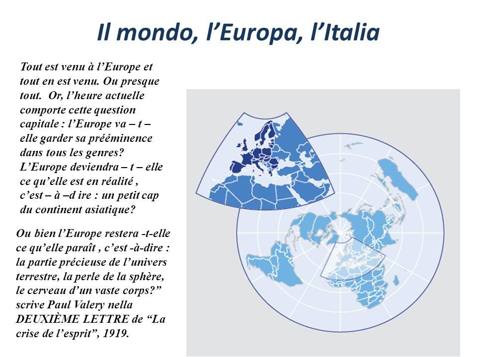 Tout est venu à lEurope et tout en est venu. Ou presque tout. Or, lheure actuelle comporte cette question capitale : lEurope va – t – elle garder sa p