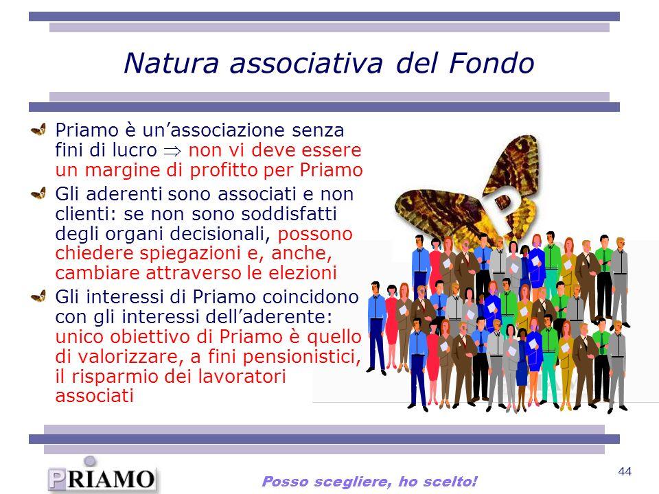 44 Natura associativa del Fondo Priamo è unassociazione senza fini di lucro non vi deve essere un margine di profitto per Priamo Gli aderenti sono ass
