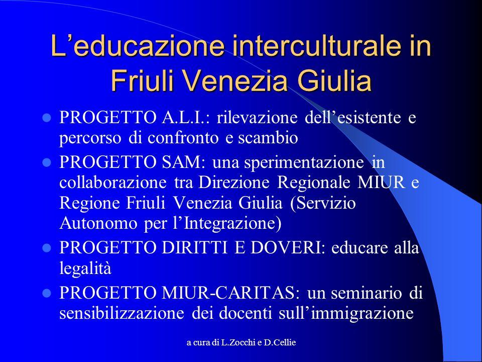 a cura di L.Zocchi e D.Cellie Leducazione interculturale in Friuli Venezia Giulia PROGETTO A.L.I.: rilevazione dellesistente e percorso di confronto e