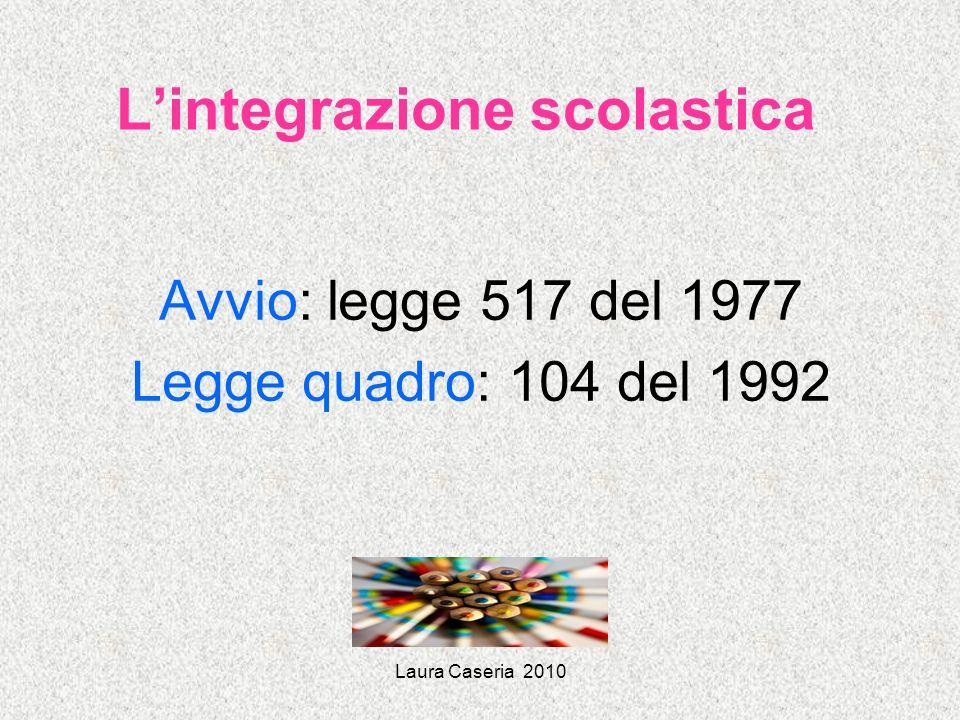 Laura Caseria 2010 Intesa Stato-Regioni 20 marzo 2008 Continuità della presa in carico del progetto di integrazione nel passaggio di scuola; importanza di un attento orientamento scolastico e professionale Art.