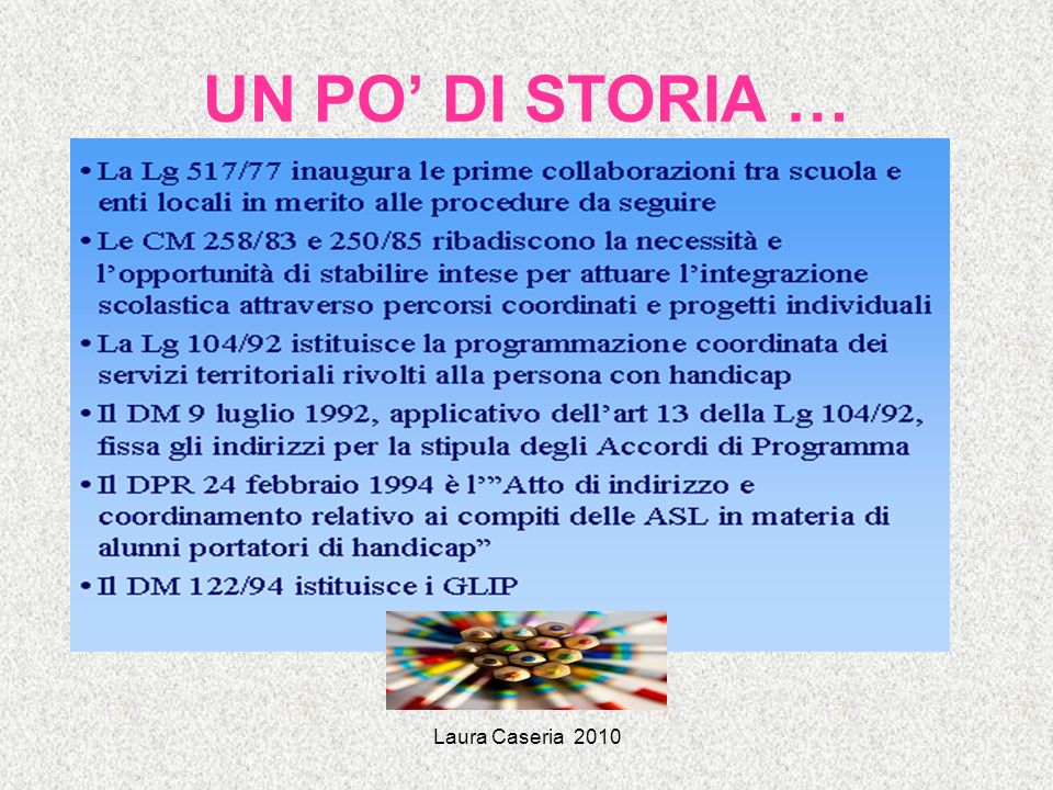 Laura Caseria 2010 Convenzione delle Nazioni Unite sui diritti delle persone con disabilità (New York 2006, ratificata in Italia il 3 marzo 2009) art.