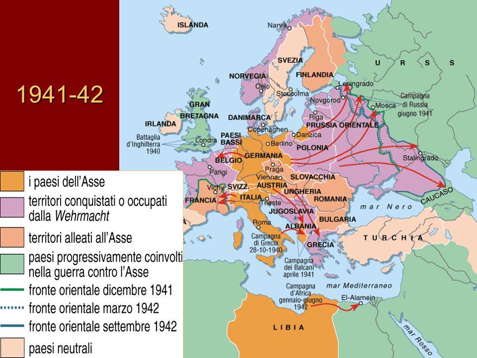 Inghilterra Usa e Urss contro il dominio del terrore 14 agosto 1941 Roosevelt e Churchill sottoscrivono la Carta atlantica distruggere la tirannia nazista garantire in futuro un ordine mondiale democratico LUrss, aggredita da Hitler, è ammessa a usufruire degli aiuti economici e militari statunitensi Il sistema dei lager