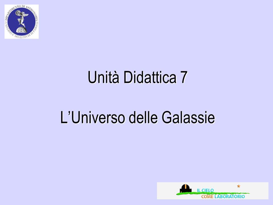 Unità Didattica 7 LUniverso delle Galassie