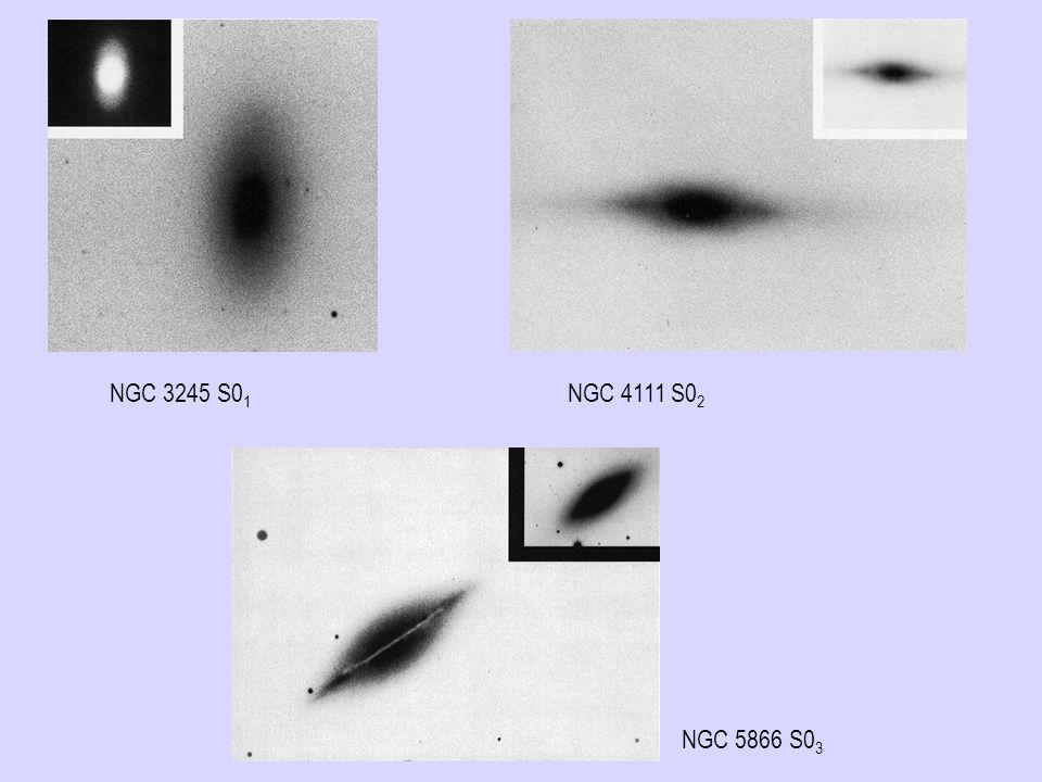 NGC 5866 S0 3 NGC 3245 S0 1 NGC 4111 S0 2