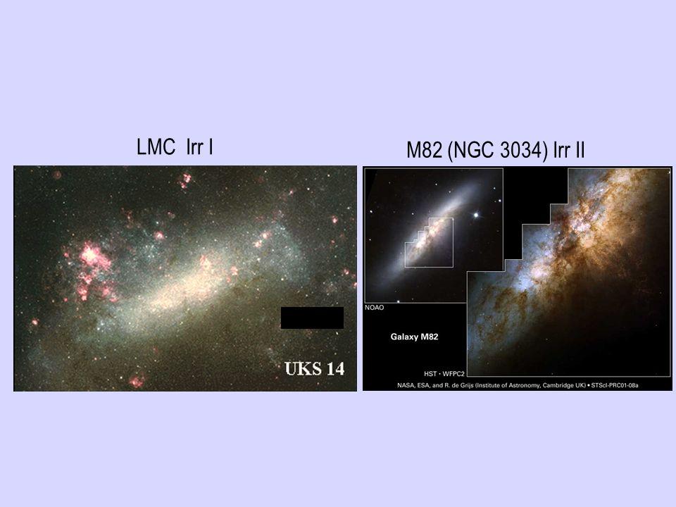 LMC Irr I M82 (NGC 3034) Irr II