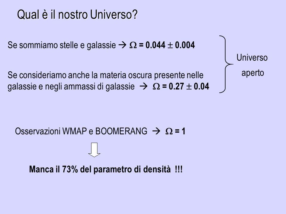 Qual è il nostro Universo.